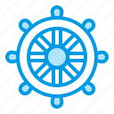 boat, control, ship, summer, weel icon