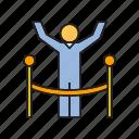 achievement, people, running, success, winner icon