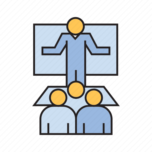 audience, business conference, leader, presentation, speaker icon
