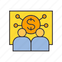 dollar, finance, money, monitoring, training icon