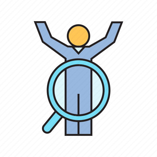 human resource, job, manpower, people, recruitment, search, worker icon