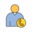 call center, contact, office, organization, people, phone icon