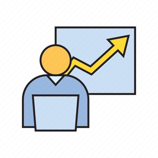 company, graph, monitoring, office, organization, people, working icon