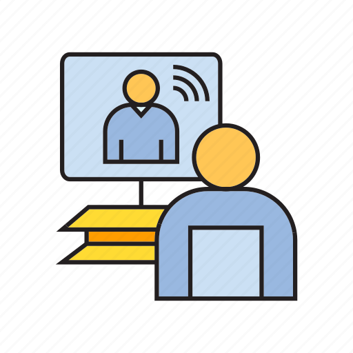 chat, meeting, office, online conference, online meeting, people, working icon
