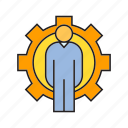 admin, cog, executive, gear, people icon