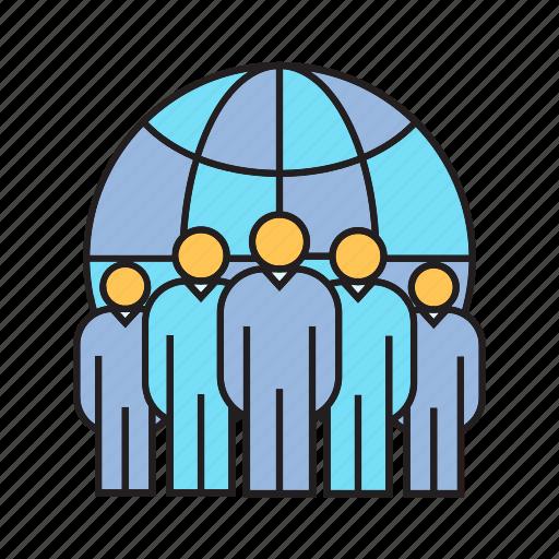 board, executive, global, globe, teamwork, world, world wide icon