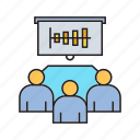 chart, graph, meeting, meetingwhiteboard, office, presentation, table icon