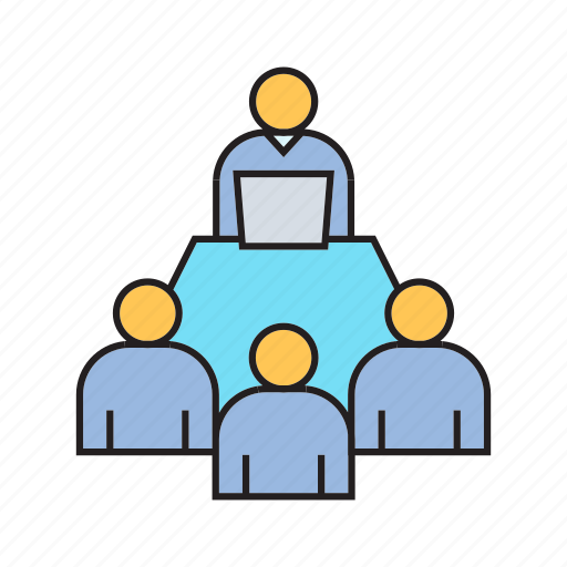 board, business meeting, cooperate, executive, management, meeting, organization icon