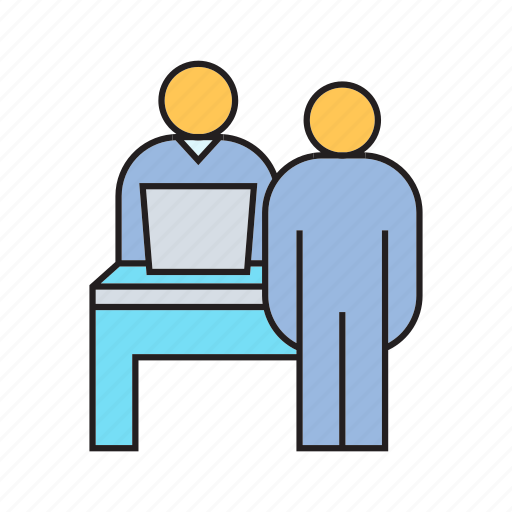 collaborate, interview, job interview, office, organization, people, worker icon