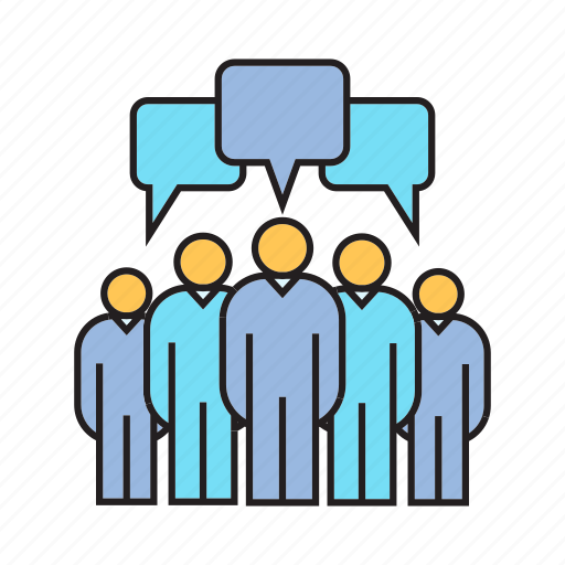 communication, community, crowd, group, people, social icon