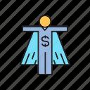 boss, entrepreneur, finance, hero, money, trader, tycoon icon