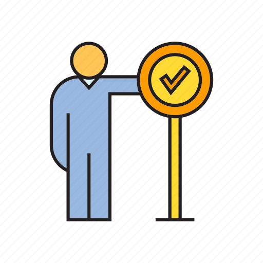 accept, agree, approve, people, signage icon