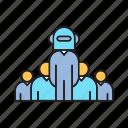 artificial intelligence, boss, bot, executive, leader, robot, team