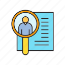 cv, human resource, job, job application, magnifier, resume