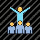 acolyte, audience, entrepreneur, evangelist, leader, success, team