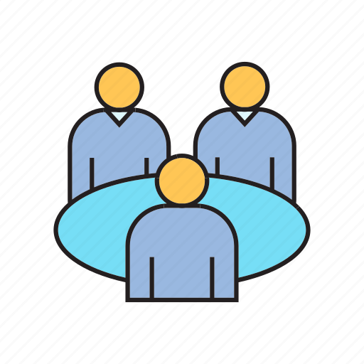 business meeting, consultant, consulting, meeting, table icon
