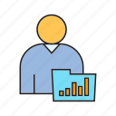 chart, data, file, folder, graph, people, user