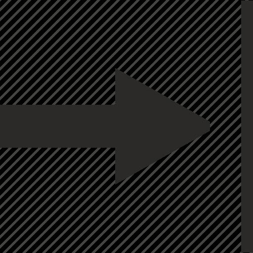 align, arrow, instrument, line, vectorial icon