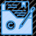 article, copyright, document, file, folder