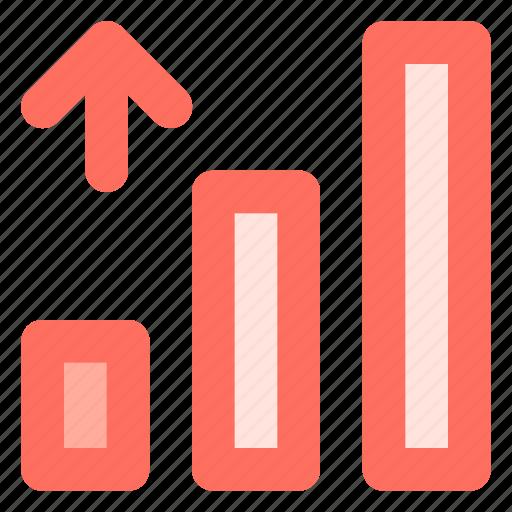 analytics, arrow, graph, growth icon