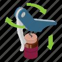 blue, bottle, cartoon, cork, corkscrew, isometric, metal