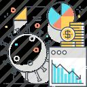 countries, economy, percentage, piechart, report, statistics icon