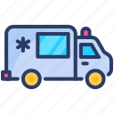 vehicle, service, ambulance, emergency, transport, medical, first aid icon