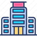 hospital, medical department, laboratory, emergency, healthcare department, clinic, building icon