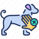 care, hygiene, animal, protection, hand care, avoid, touch icon