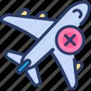 avoid, corona virus, crowd, distancing, plane, safety, travel icon