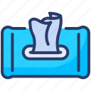 cleaning, disposable, housekeeper, hygiene, paper, wet, wipes icon