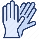 gloves, hand, hygiene, medical, protection, safety, surgical icon