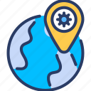 area, corona virus, epidemic, global, infected, location, viral icon