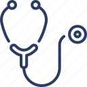 diagnosis, healthcare, heartbeat, measurement, medical, physician, stethoscope icon