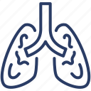 breath, demonology, gases, lungs, organ, oxygen, respiration icon