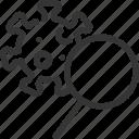 magnifier, corona, virus