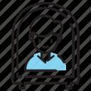 corona virus, covid19, isolation, man, quarantine icon