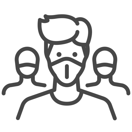 mask, mass, people, prevent, protection, safety icon