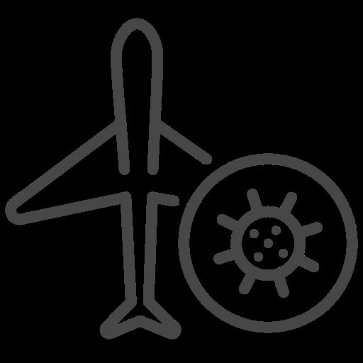 Coronavirus, flight, transport, covid-19, corona, corona virus, covid19 icon - Free download