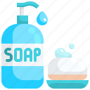 alcohol, antibacterial, healthcare, hydroalcoholic, medical, sanitizer, soap icon