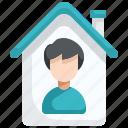 prevention, home, coronavirus, user, epidemic, quarantine, people icon