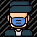 avatar, coronavirus, face, mask