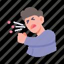 cough, disease, flu, sneeze