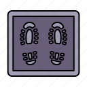 rug, virus, coronavirus, feet icon