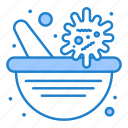 bowl, medicine, pharmacy, vaccine, virus