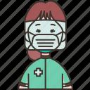 nurse, healthcare, staff, medic, caretaker icon
