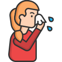 infection, nose, running nose, sick, stuffy nose, virus icon