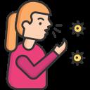 coronavirus, coughing, sneeze, spread icon