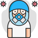 face mask, mask, protection, protective icon