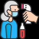 coronavirus, scan, temperature, thermometer icon
